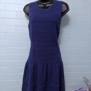 Maje knit tank dress - blue, designer 3, fits 6-10